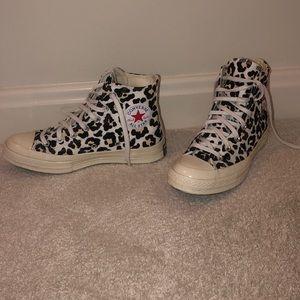 Leopard print high tops